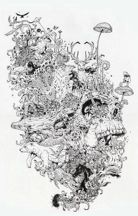来来来,分享你欣赏的手绘插画师的作品