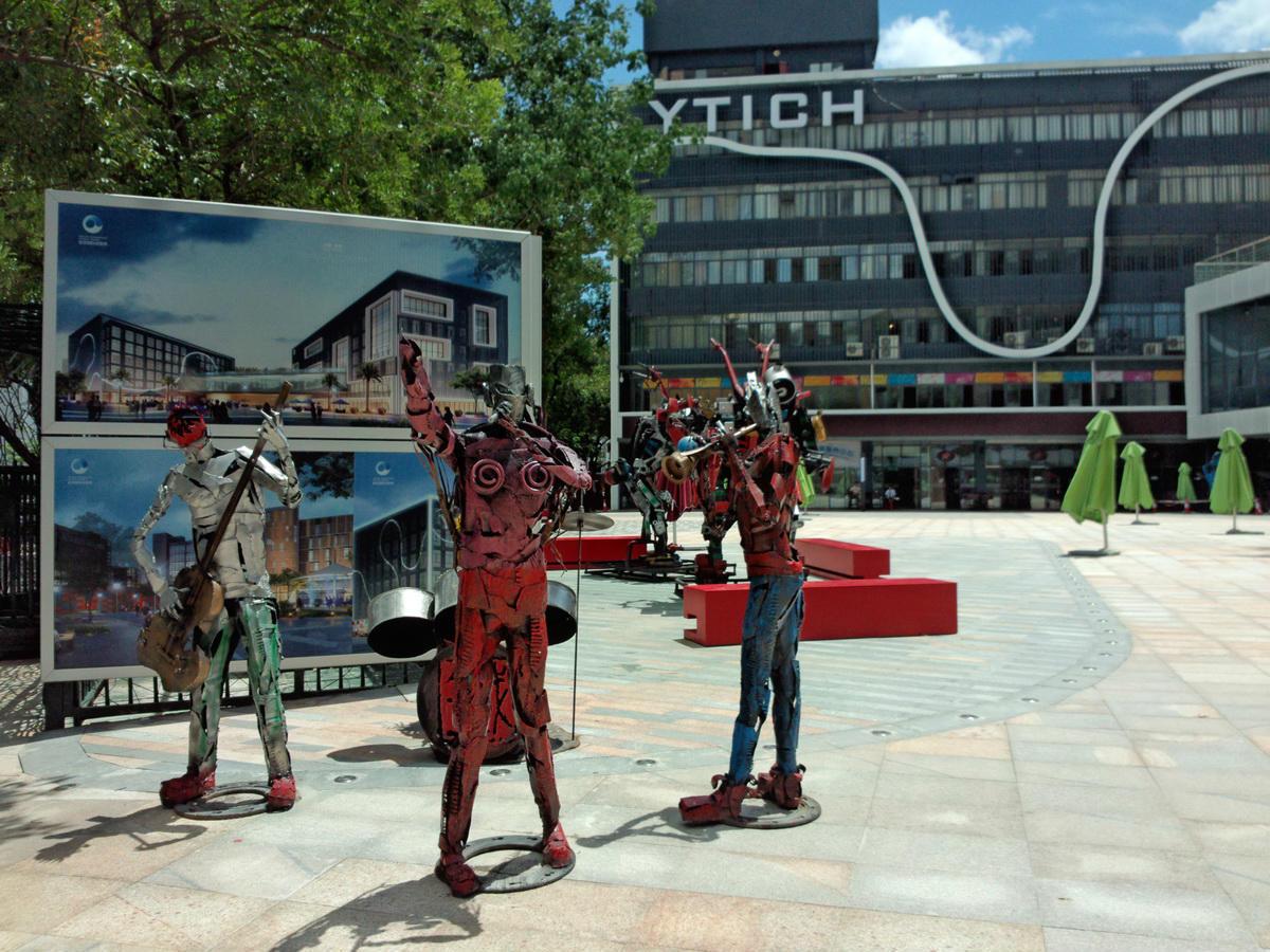 盐田国际创意港创意设计广场雕塑图片