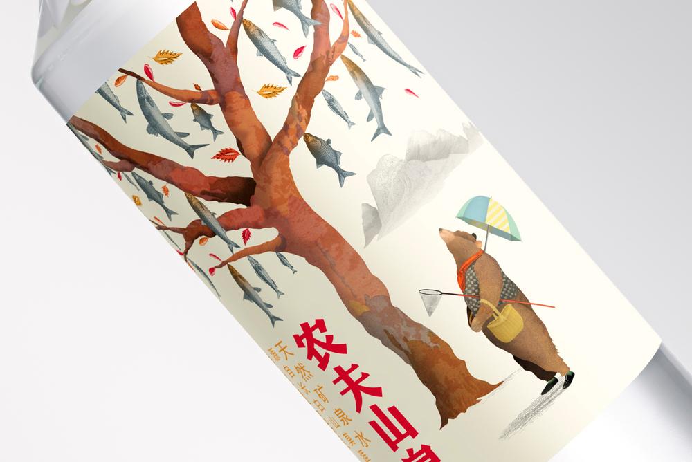 农夫山泉插画包装图片