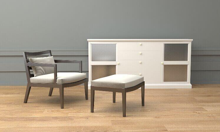 简约美式风格休闲椅,融合传统美式家具产品的视觉