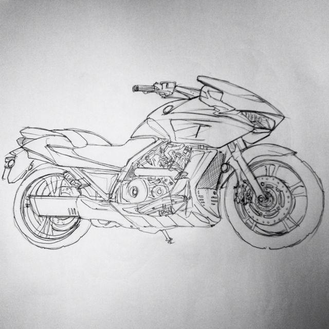 产品手绘练习 飞行器与摩托车