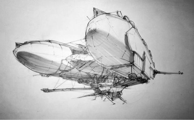 产品手绘练习 飞行器与摩托车_商机_设区网