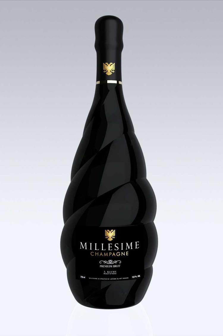 millesime香槟酒瓶
