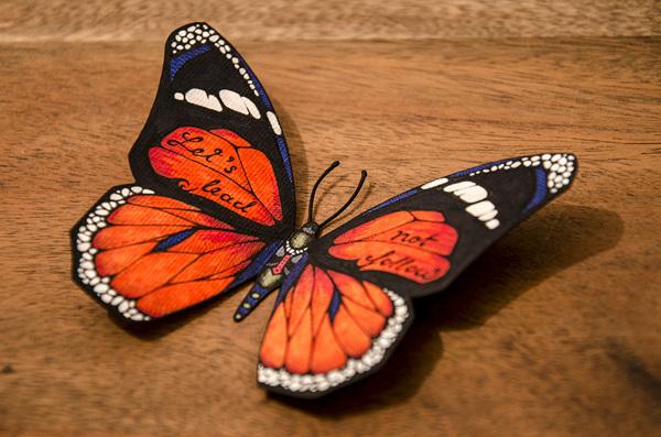 勾鞋图案图纸 蝴蝶