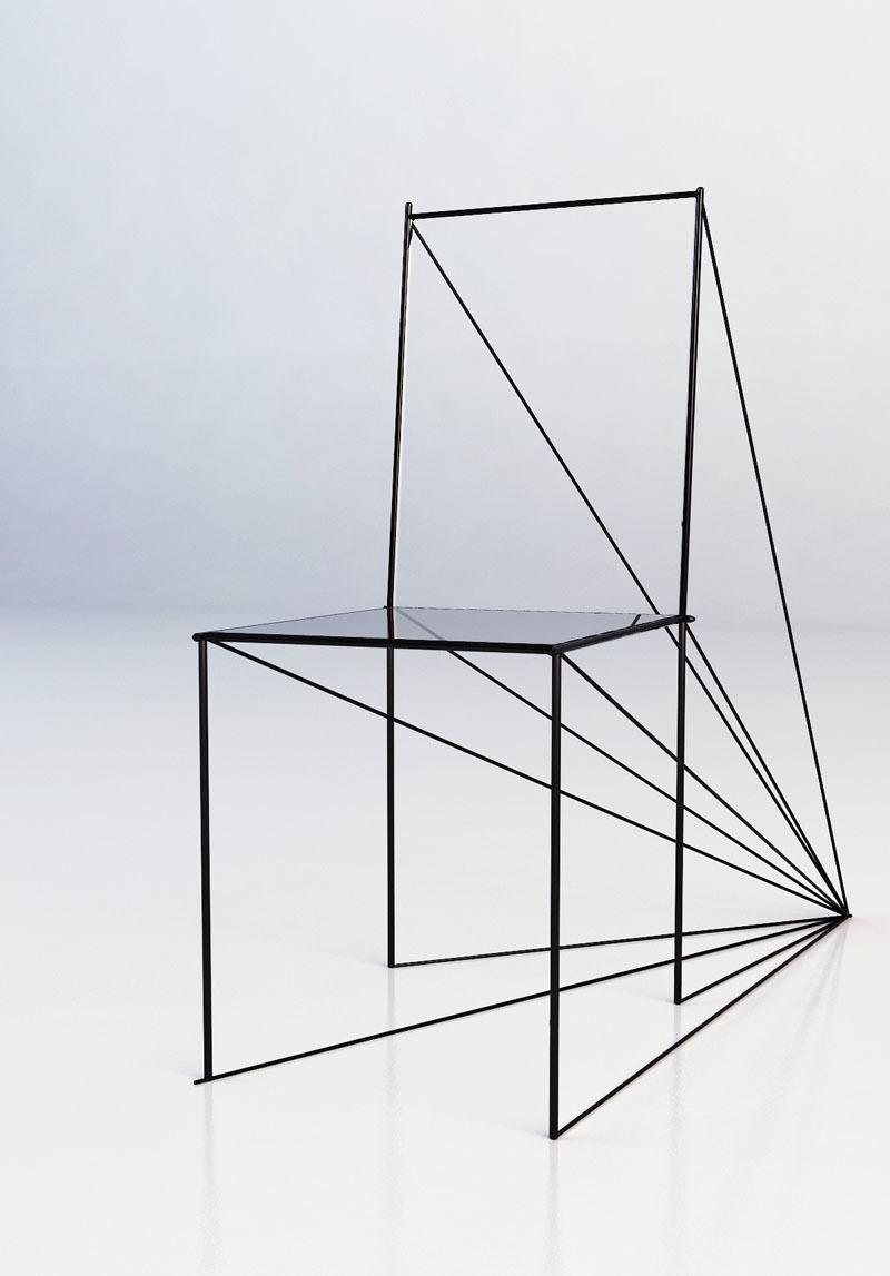 手绘椅子三视图_手绘椅子三视图设计