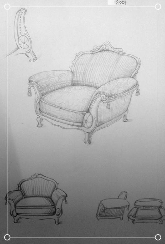 家具产品手绘设计