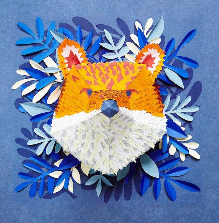 立体纸制动物面具