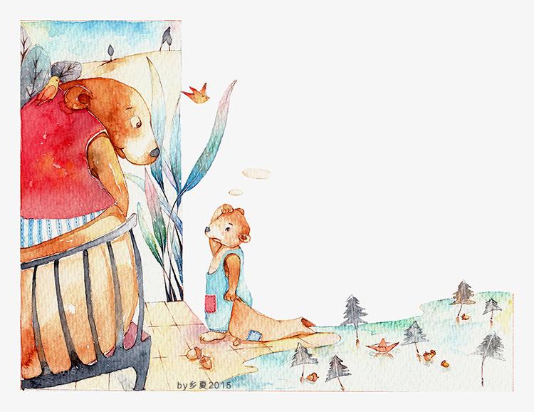 儿童插画 绘本插画  水彩手绘