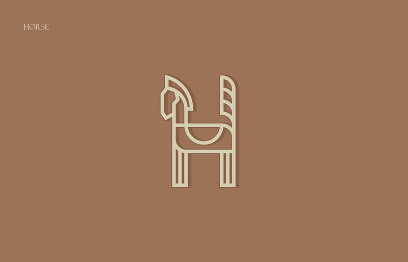 动物图案字母表设计