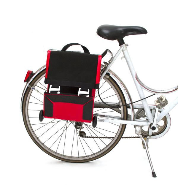 便携式自行车后座折叠包