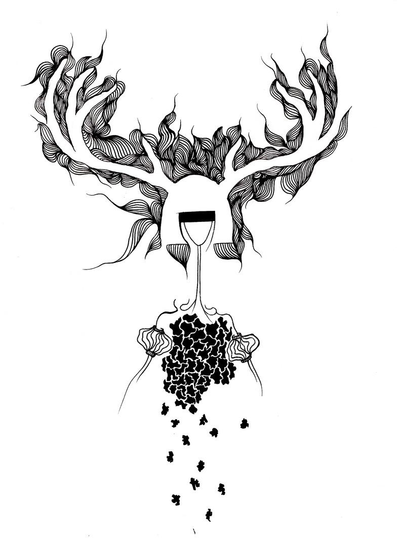 鹿怎么画简笔画步骤