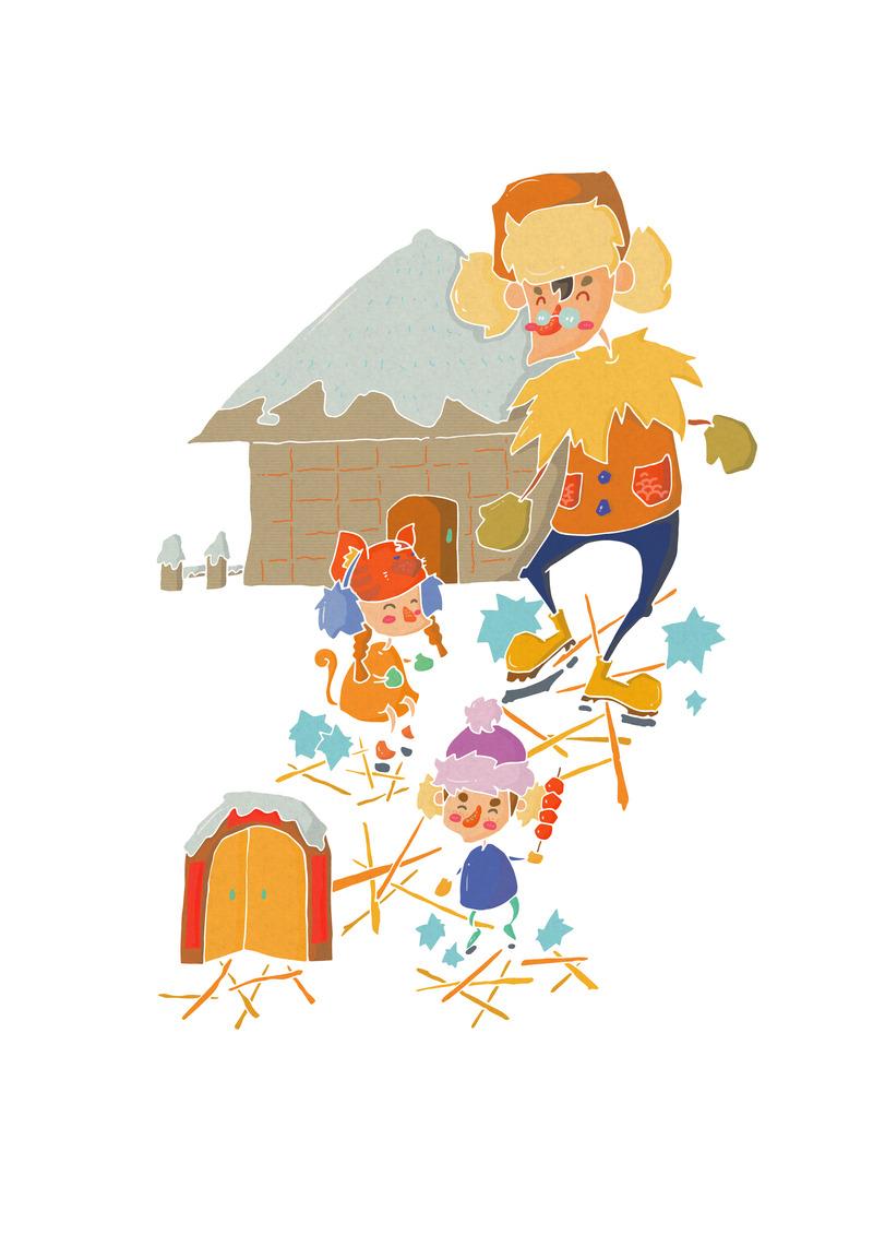 《年年年 春节习俗文化绘本》节选_设计师原创作品_设