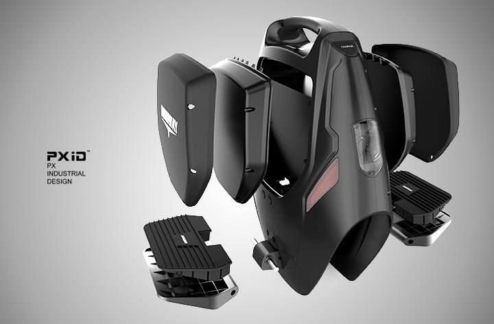 电动独轮车外观设计 品向工业设计 平衡车设计 pxid