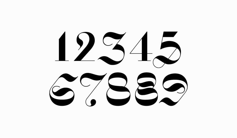 5的美术字体 可爱