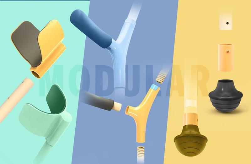 设计师们研究了世界各地的拐杖设计,取其精华,并且邀请了真正的用户