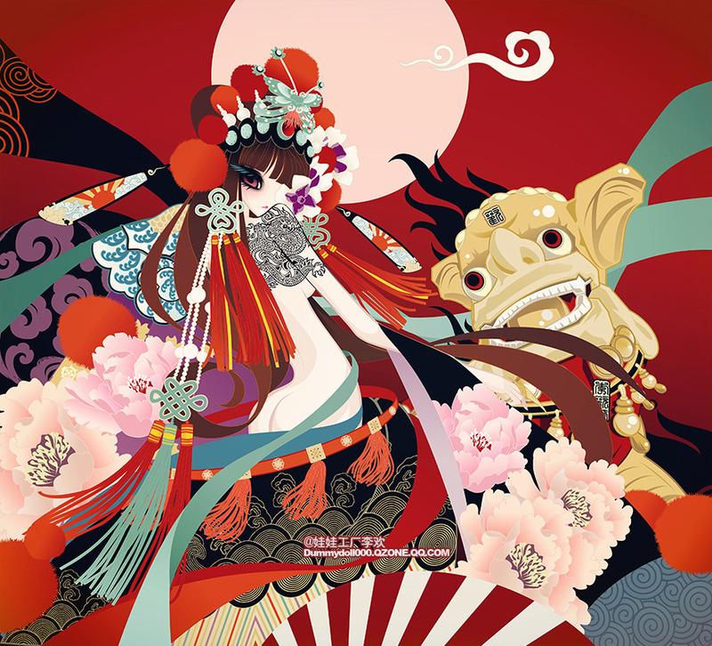 中華傳統風物擬人系列角色/插畫設計之