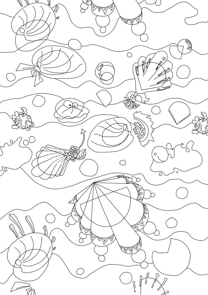 河蚌简笔画画法