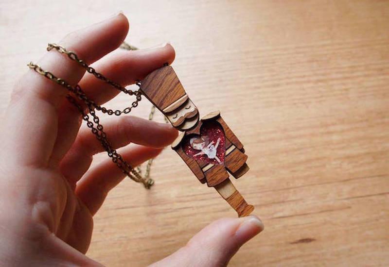 创意木雕项链