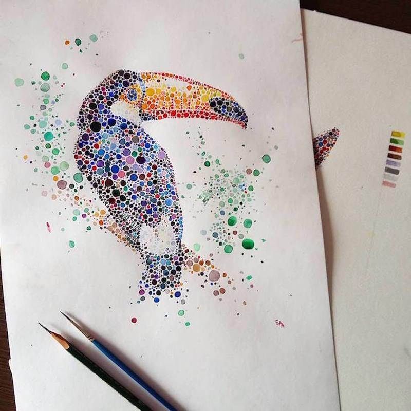 动物绘画_原创_设区网
