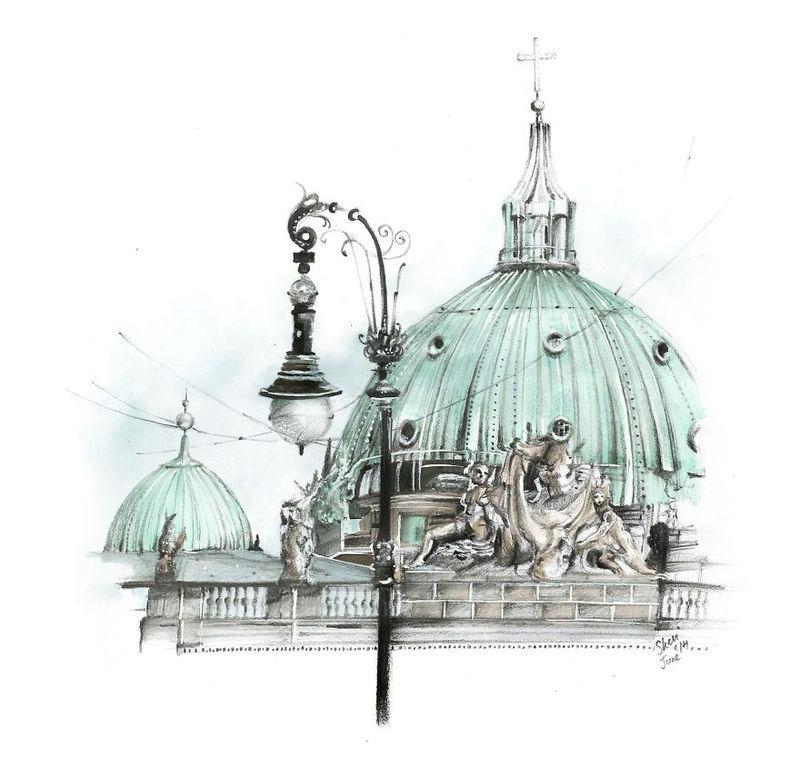 英国特色建筑手绘