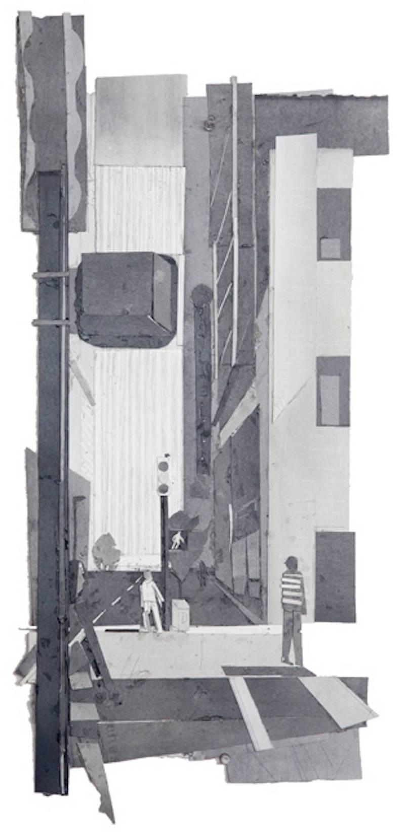 都市黑白拼贴画